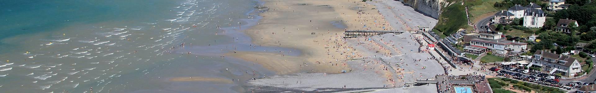 Vue aérienne de Veules-les-Roses